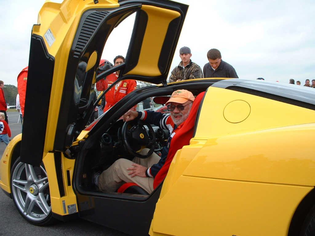 Gerry in an Enzo Ferrari